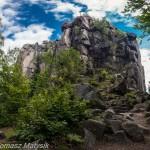 Skały widokowe  na szczycie Sokolik