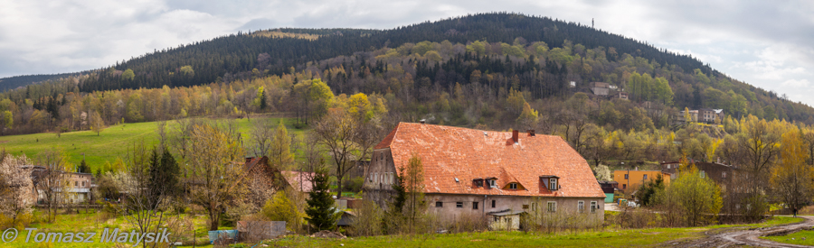 Panorama od strony wejścia do uroczyska