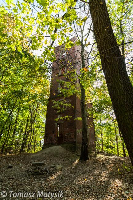 Ruina wieży widokowej w Cieplicach